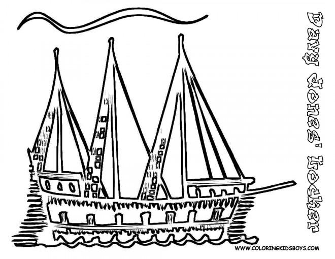 Coloriage et dessins gratuits Navire artistique à imprimer
