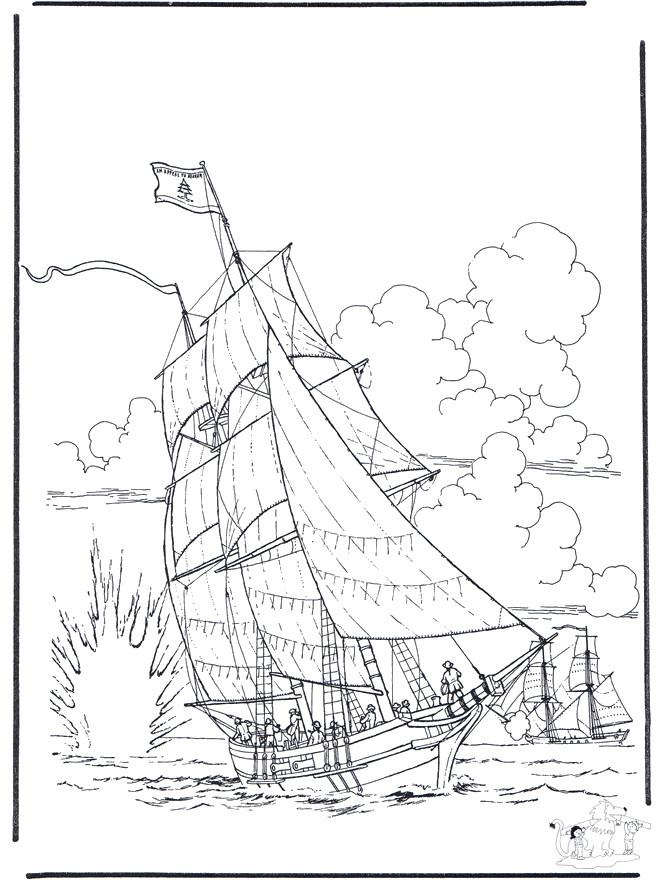 Coloriage et dessins gratuits Navire de guerre de l'antiquité à imprimer