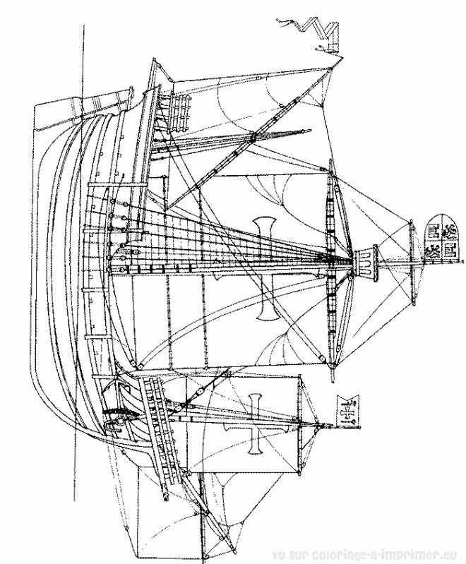 Coloriage et dessins gratuits Navire de l'antiquité à imprimer
