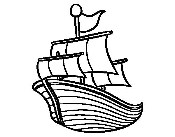 Coloriage et dessins gratuits Navire de pêche maternelle à imprimer