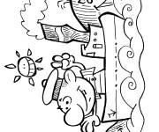 Coloriage Navire dessin animé