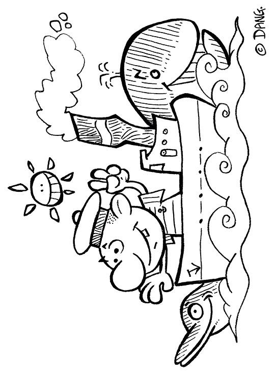 Coloriage et dessins gratuits Navire dessin animé à imprimer