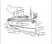 Coloriage Navire et transport maritime