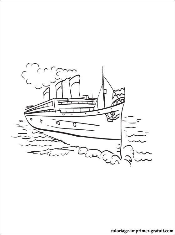Coloriage et dessins gratuits Navire et transport maritime à imprimer