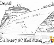 Coloriage Navire Royale à quai