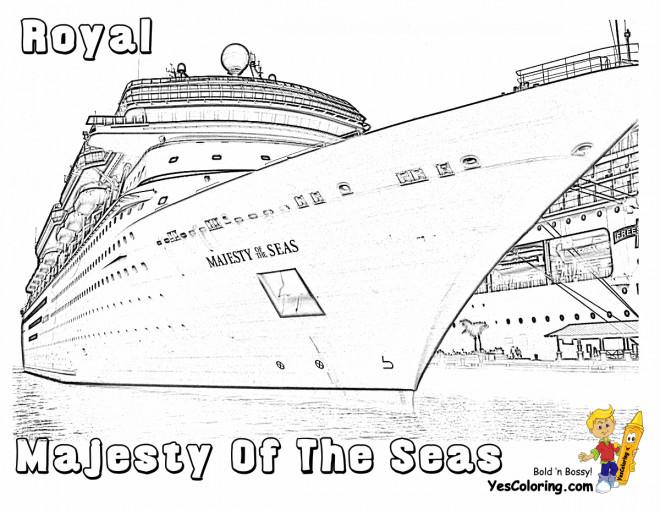Coloriage et dessins gratuits Navire Royale à quai à imprimer