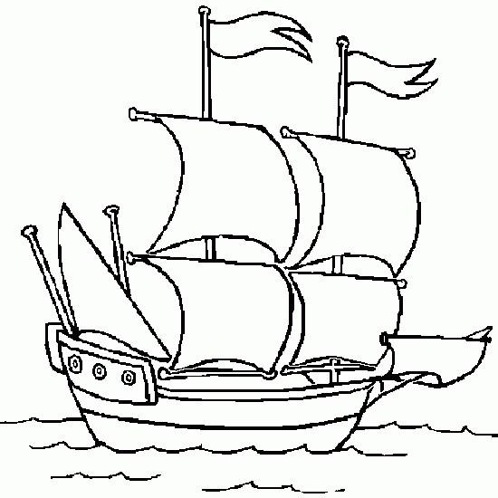 Coloriage et dessins gratuits Navire stylisé à imprimer
