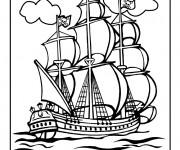 Coloriage et dessins gratuit Portrait Bateau Pirate à imprimer