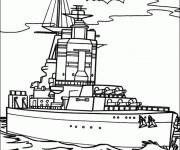 Coloriage et dessins gratuit Un Bateau militaire à imprimer