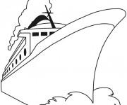 Coloriage et dessins gratuit Bateau croisière à colorier à imprimer