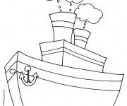Coloriage et dessins gratuit Bateau de pêche à imprimer