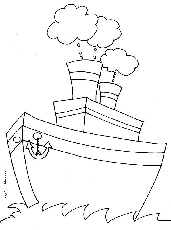 Coloriage bateau de p che dessin gratuit imprimer - Dessin bateau enfant ...