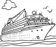 Coloriage Navire 4