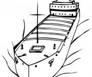 Coloriage et dessins gratuit Navire pétrolier à imprimer