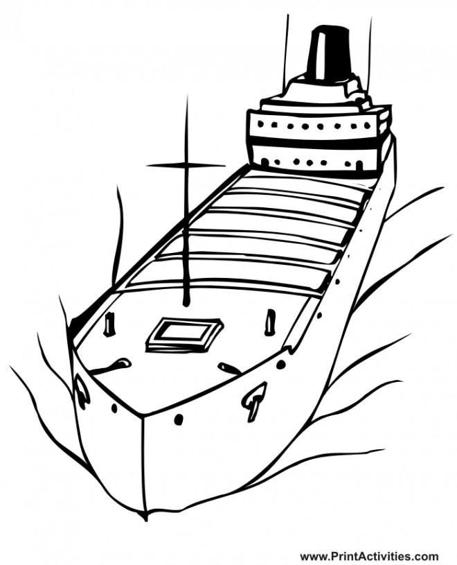 Coloriage et dessins gratuits Navire pétrolier à imprimer