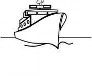 Coloriage et dessins gratuit Paquebot dan sla mer à imprimer