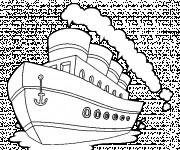 Coloriage Paquebot dessin animé