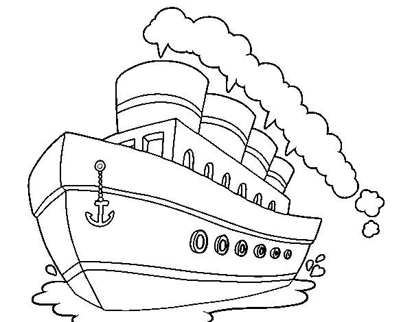 Coloriage et dessins gratuits Paquebot dessin animé à imprimer