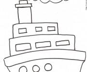 Coloriage et dessins gratuit Paquebot dessiné par le crayon à imprimer