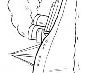 Coloriage et dessins gratuit Paquebot et voyage maritime à imprimer