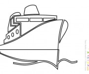 Coloriage et dessins gratuit Paquebot stylisé à imprimer