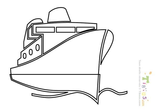 Coloriage et dessins gratuits Paquebot stylisé à imprimer