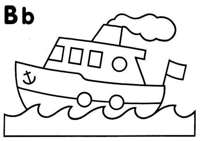 Coloriage un petit bateau stylis dessin gratuit imprimer - Dessin petit bateau ...