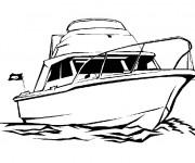 Coloriage et dessins gratuit Un Yacht couleur à imprimer