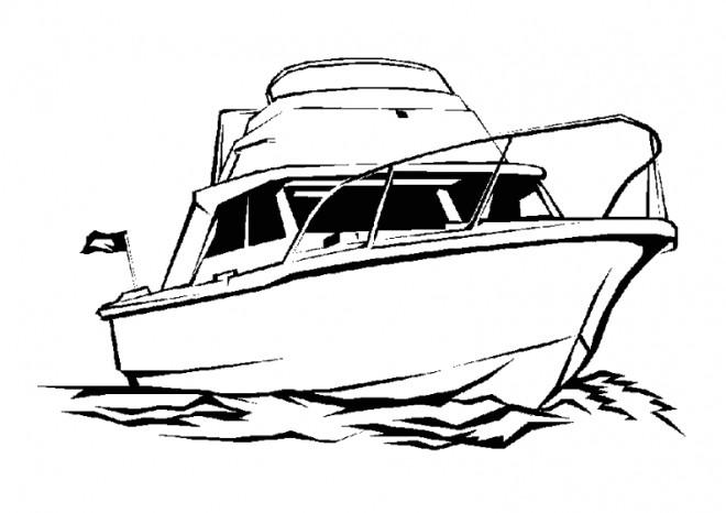 Coloriage Un Yacht Couleur Dessin Gratuit A Imprimer