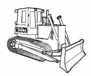Coloriage et dessins gratuit Bulldozer Tonka à colorier à imprimer