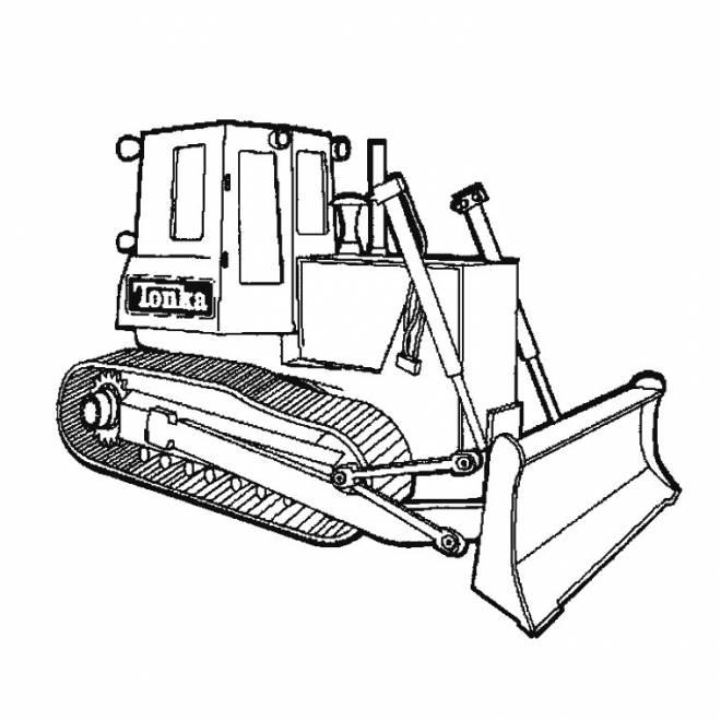 Coloriage Bulldozer Tonka à Colorier Dessin Gratuit à Imprimer