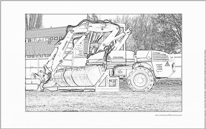 Coloriage engin de chantier r aliste dessin gratuit imprimer - Coloriage de pelleteuse ...