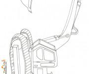 Coloriage et dessins gratuit Pelle Mécanique au crayon à imprimer
