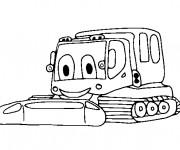 Coloriage et dessins gratuit Pelle Mécanique bien heureuse à imprimer