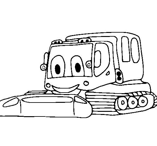 Coloriage et dessins gratuits Pelle Mécanique bien heureuse à imprimer