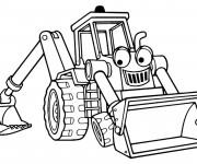Coloriage et dessins gratuit Pelle Mécanique dessin animé à imprimer