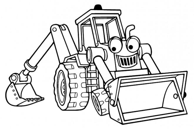 Coloriage et dessins gratuits Pelle Mécanique dessin animé à imprimer