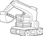 Coloriage et dessins gratuit Pelle Mécanique drôle à imprimer