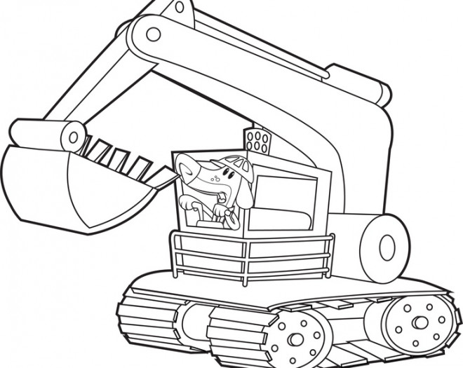 Coloriage et dessins gratuits Pelle Mécanique drôle à imprimer