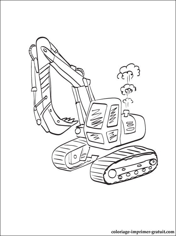 Coloriage et dessins gratuits Pelle Mécanique en action à imprimer