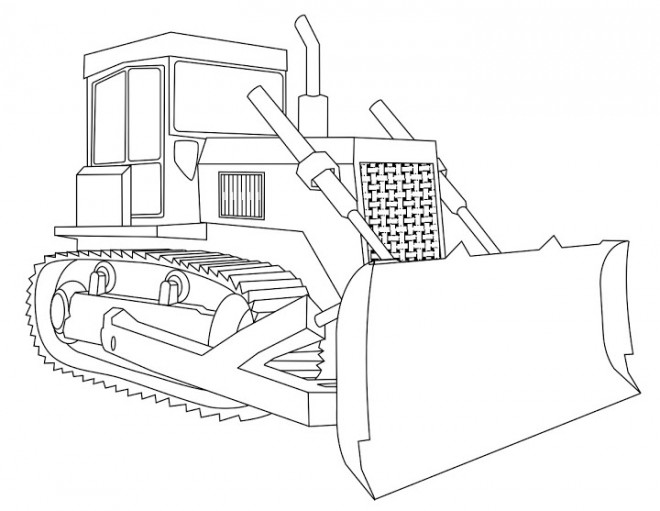 Coloriage et dessins gratuits Pelle Mécanique en noir et blanc à imprimer