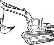 Coloriage et dessins gratuit Pelle Mécanique Tonka à imprimer