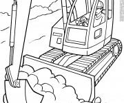 Coloriage et dessins gratuit Tracteur à chenilles et Les travaux à imprimer