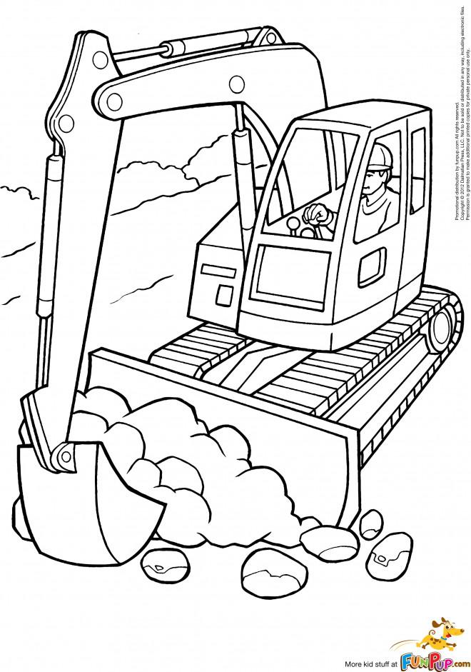 Coloriage et dessins gratuits Tracteur à chenilles et Les travaux à imprimer