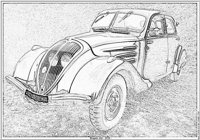 Coloriage et dessins gratuits Automobile classique à imprimer
