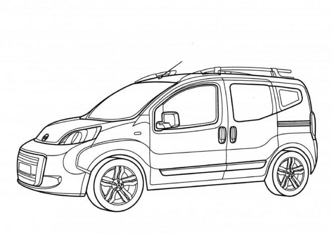 Coloriage et dessins gratuits Automobile Peugeot française à imprimer