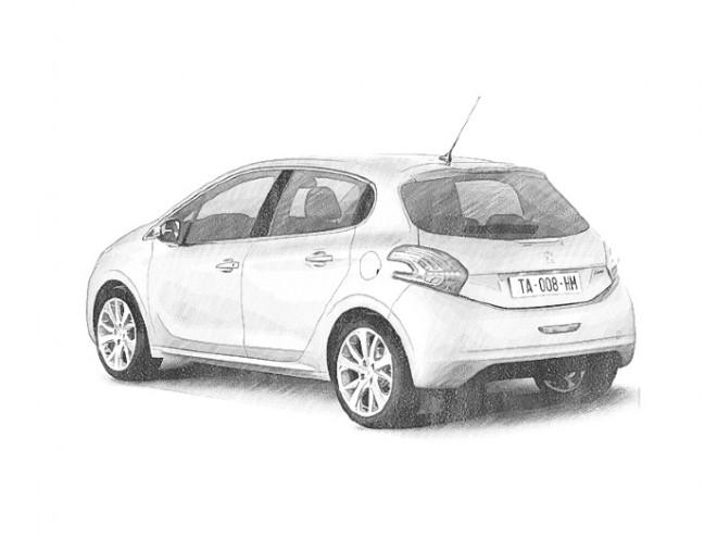 Coloriage et dessins gratuits Automobile Peugeot réaliste à imprimer