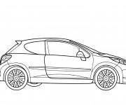 Coloriage et dessins gratuit Modèle de Peugeot 206 à imprimer
