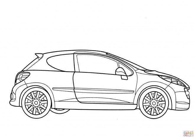 Coloriage mod le de peugeot 206 dessin gratuit imprimer - Modele dessin voiture ...