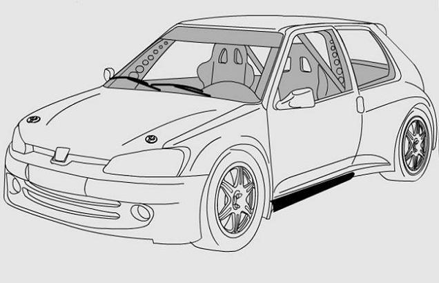 Coloriage et dessins gratuits Peugeot 205 GTI à imprimer